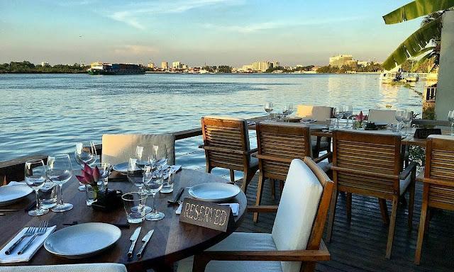The Deck Saigon in HCMC's District 2 lies on the Saigon River and a top dining venue. Photo courtesy of Deck Saigon.