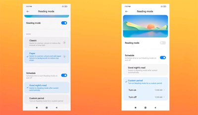 MIUI 12 Feature Introduces Paper Mode in Reading Mode 3.0