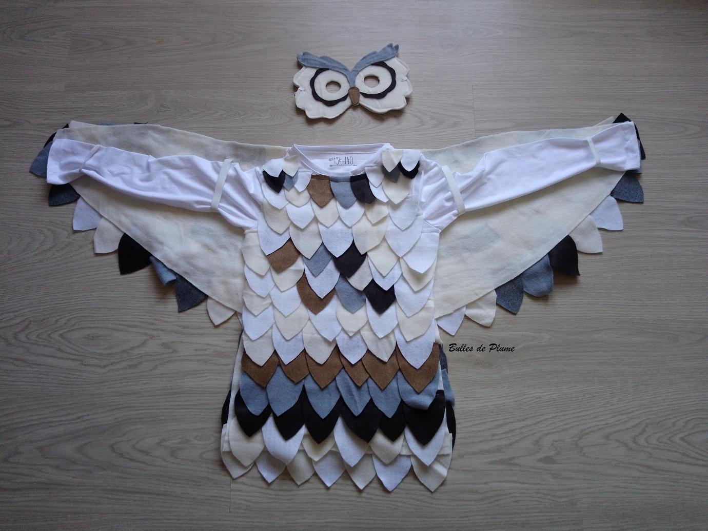 Bulles De Plume Diy Costume Hibou Chouette