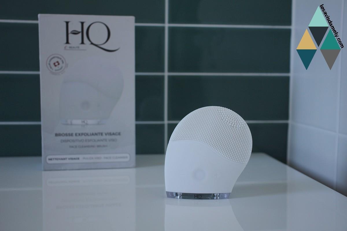 avis et test brosse nettoyante exfoliante visage hq