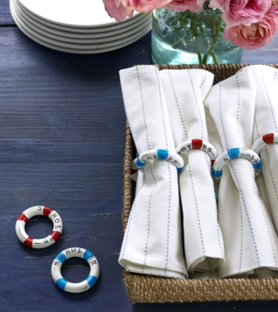 nautical napkins rings