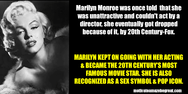 Success Stories From Famous People Who Failed Before Succeeding: Marilyn Monroe