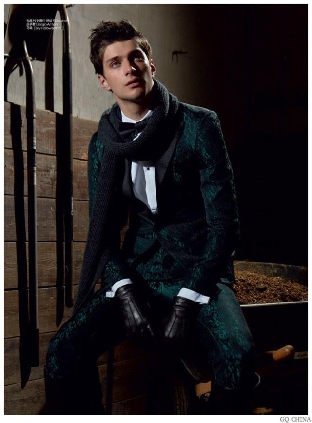 matthew bell, gq china, editorial de moda, fashion, models, giorgio armani, lanvin,