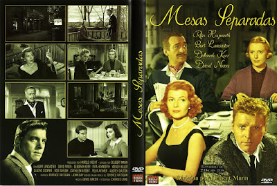 Carátula dvd: Mesas separadas (1958) Separate Tables