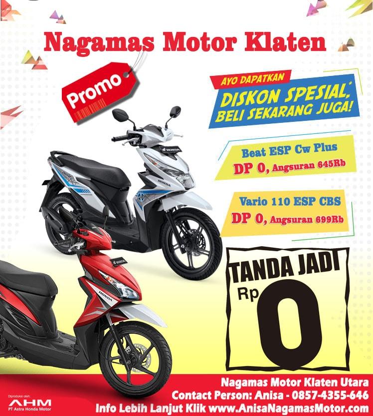 Promo Punya Motor Tanpda DP 0 Naga Mas Motor Klaten