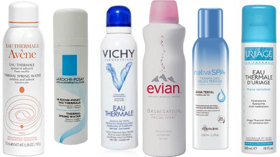 agua termal pele seca e com acne
