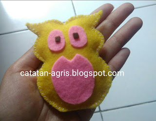 Membuat Boneka Burung Hantu Mini Dari Kain Flanel Catatan Agris