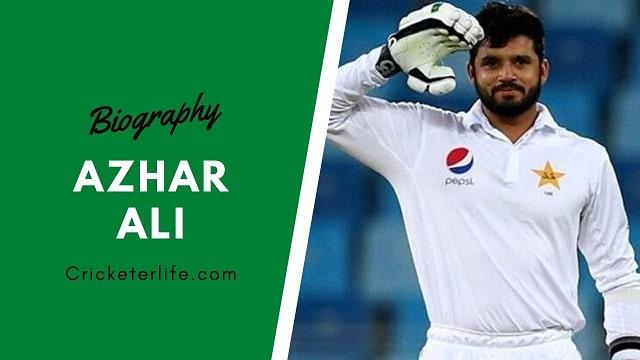 Azhar Ali batting, wife, family, age, height, Stats, etc.