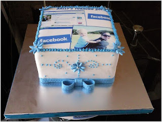 Kue Ulang Tahun Sosmed Facebook timeline