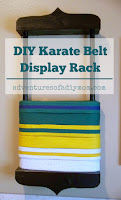 diy karate belt display rack