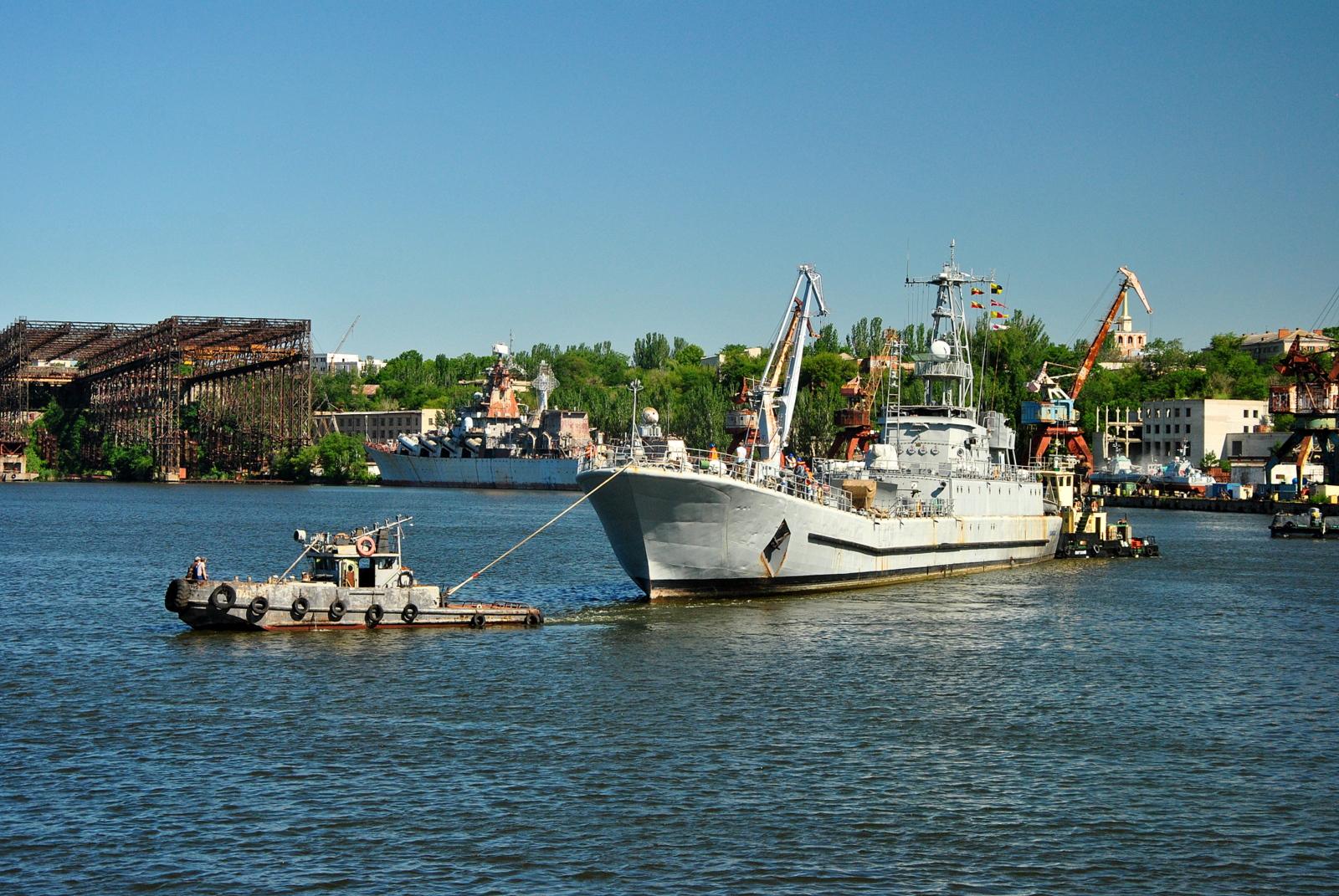 Єдиний десантний корабель ВМСУ став на доковий ремонт