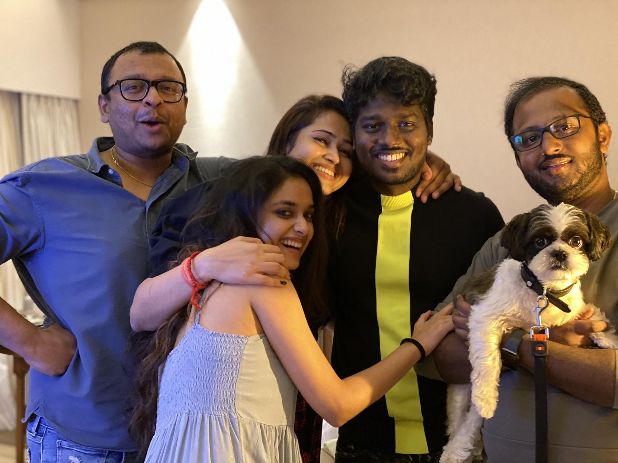 Keerthy Suresh Beautiful Smile with Atlee and PriyaAtlee 2