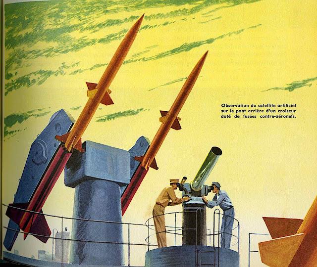 a John Polgreen illustration of missile defence 1950s