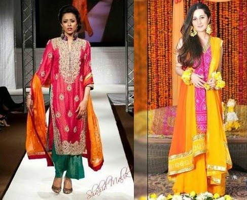 Mehndi Dresses for Bridals - Fashion Woop