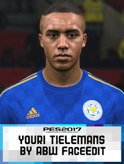 PES 2017 Faces Youri Tielemans by ABW_FaceEdit