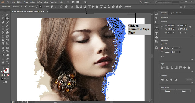 Dispersion Effect in Adobe Illustrator