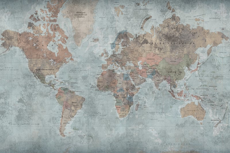 World Map Murals