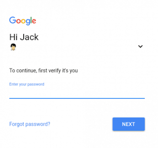 Google password account
