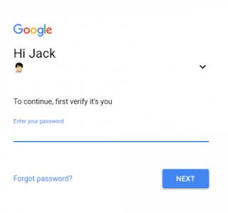 Google password account