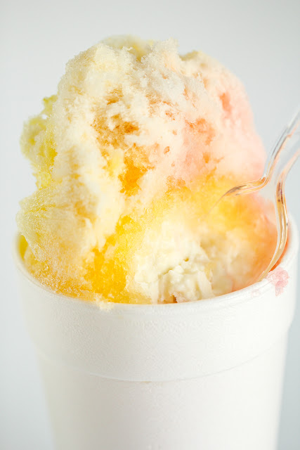 Tropical shaved ice stuffed with Ice Cream in the northland of Kansas City Missouri