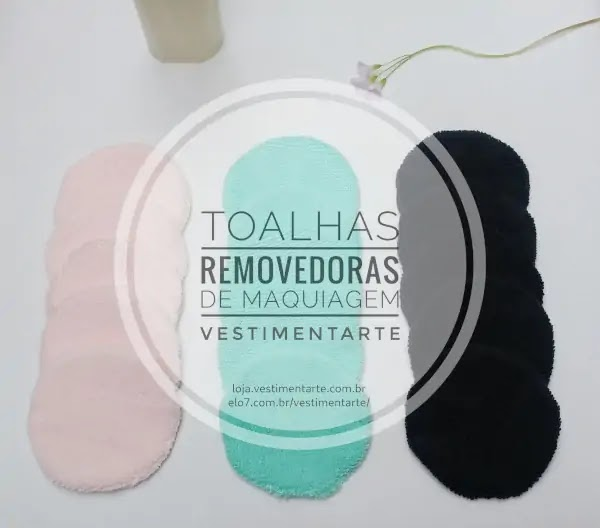 Ecopads: discos para remoção de maquiagem reutilizáveis