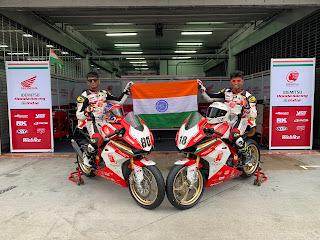 IDEMITSU Honda Racing India dup Rajiv and Senthil at ARRC 2019 in Australia
