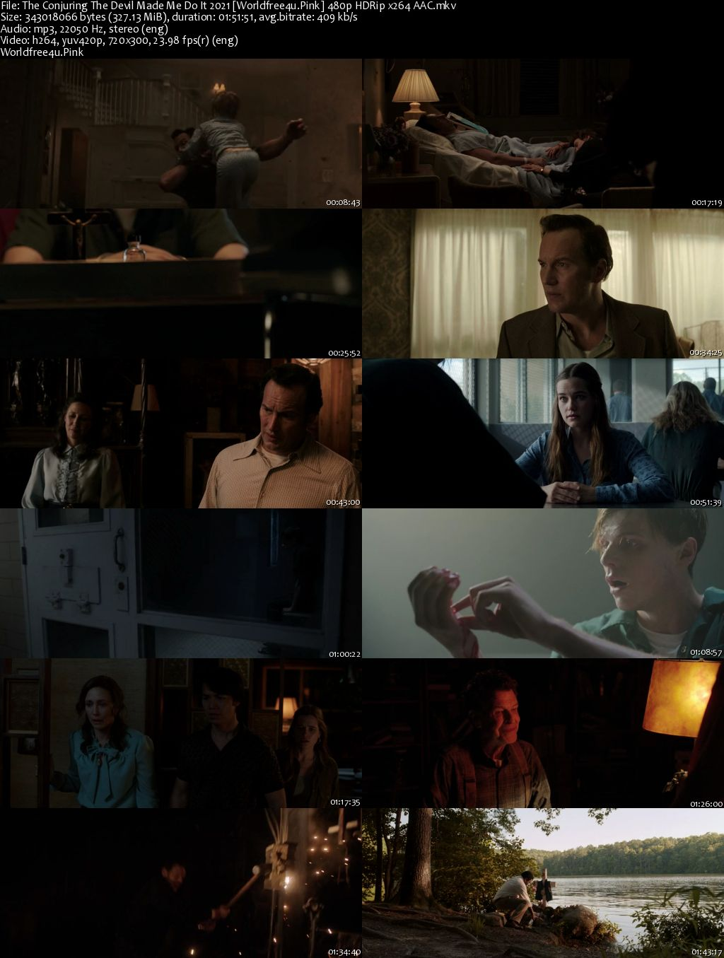 The Conjuring 3: The Devil Made Me Do It 2021 HDRip 480p 300Mb