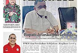 Tabloid Lelemuku #53 - Minta Maaf, Bupati Jelaskan Kekeliruan - 09 Agustus 2021