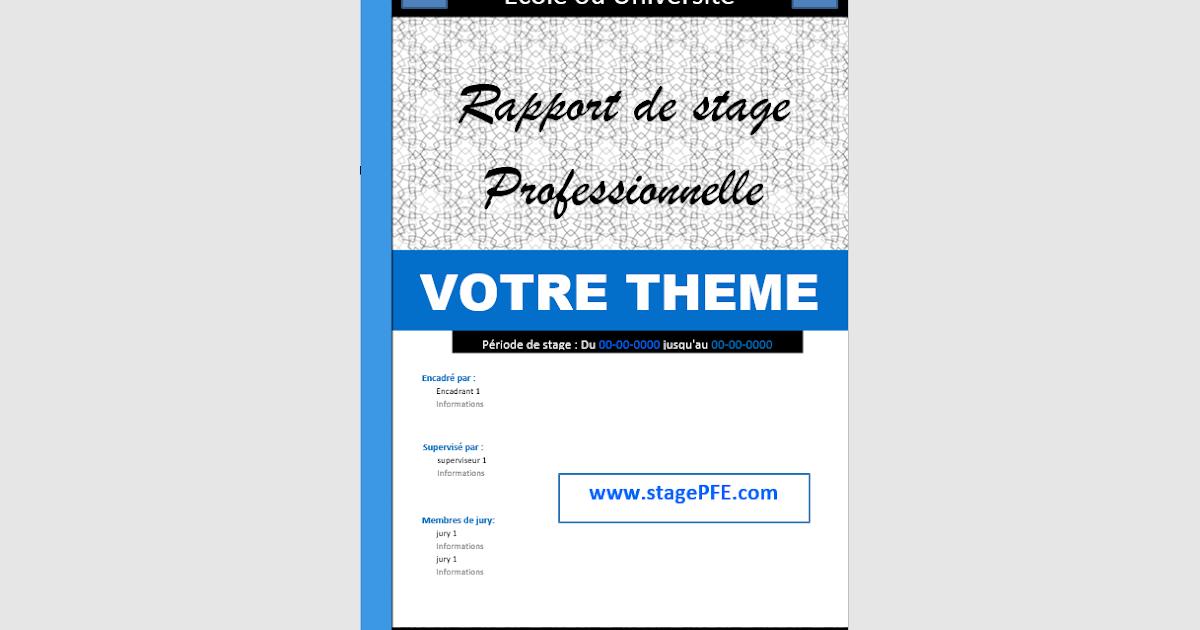 Word Un Exemple De Page De Garde Pour Votre Rapport De