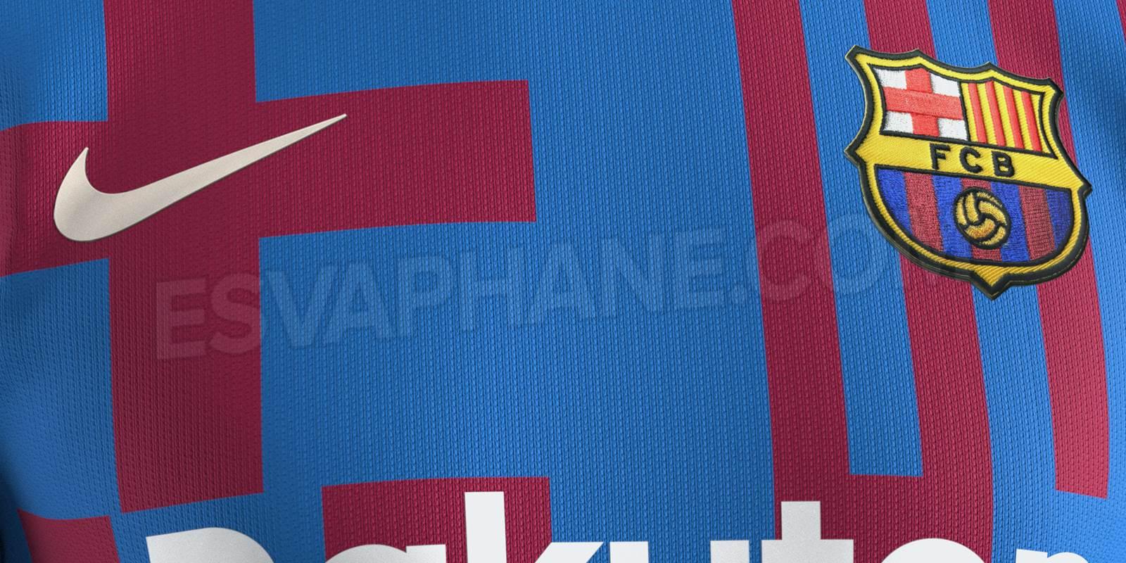 official colors leaked fc barcelona 21 22 home kit design leaked footy headlines fc barcelona 21 22 home kit design