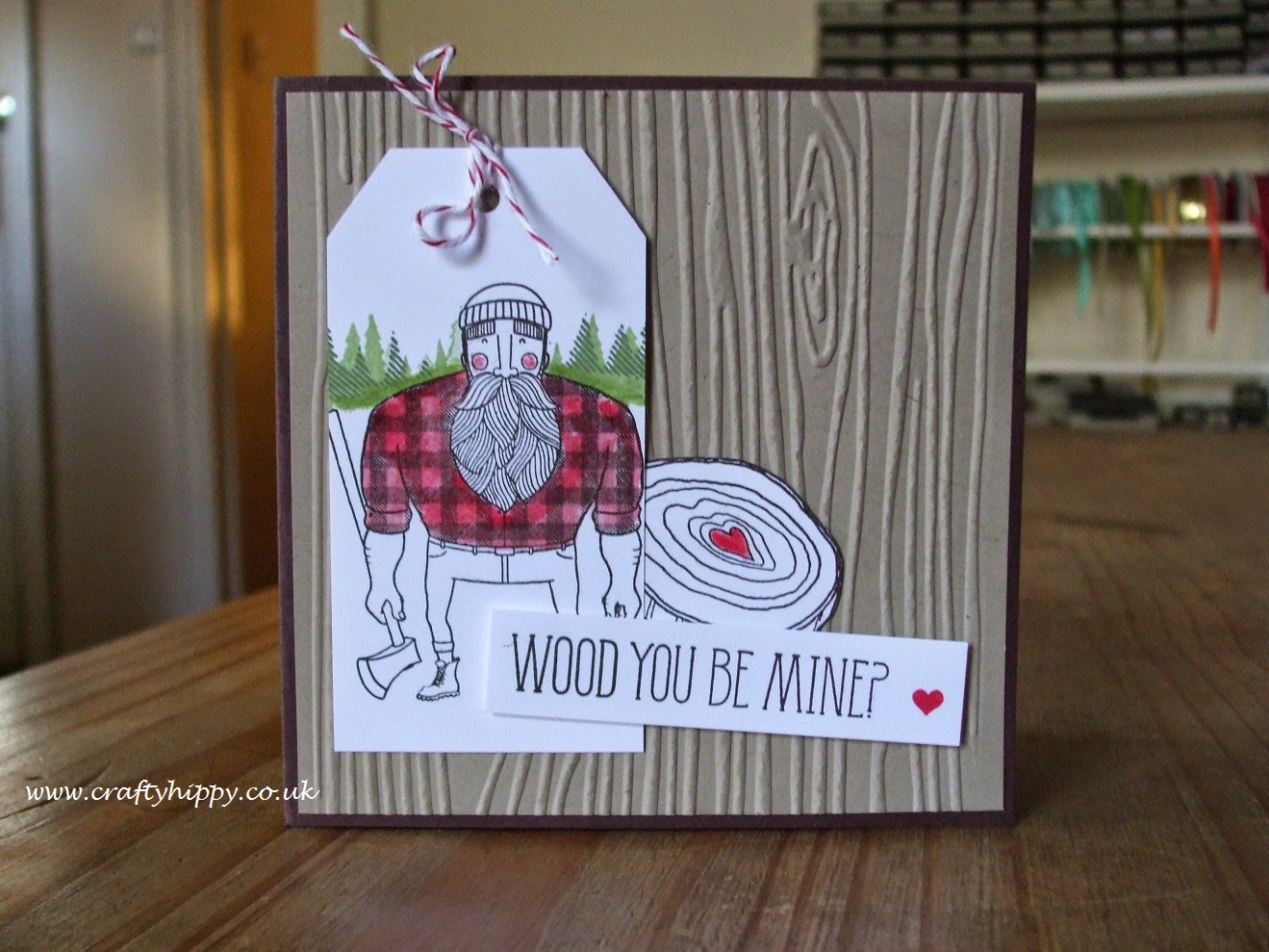 Stampin' Up! Wood you be Mine?