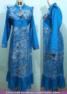 Model baju kerja wanita terbaru muslim gemuk hamil modis polos modern