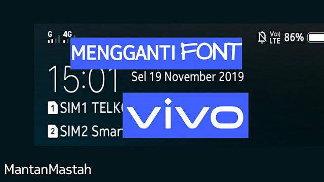 tampilan font vivo, font panel notifikasi vivo