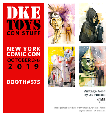 New York Comic Con 2019 Exclusive Vintage Gold Action Figure Series by Lou Pimentel x DKE Toys