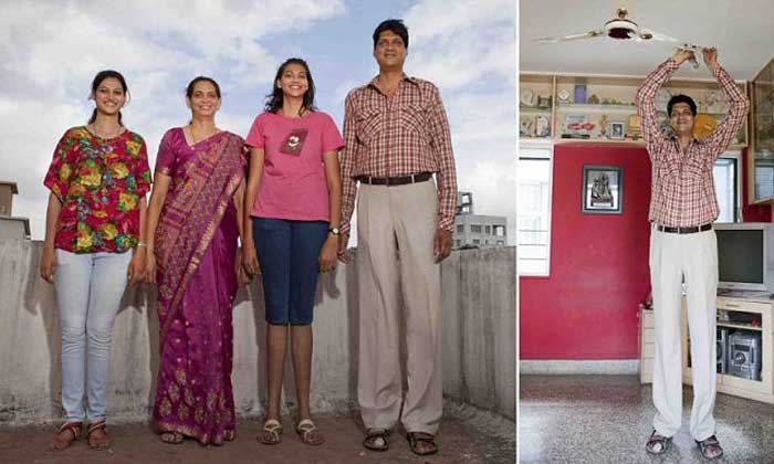 India's tallest family