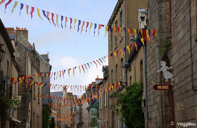 Una delle vie del centro storico di Guérande