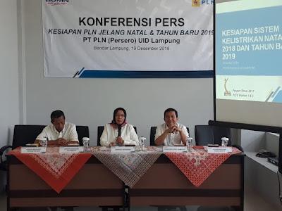 Perayaan Natal dan Tahun Baru 2019, PLN Jamin Lampung Bebas dari Byarpet