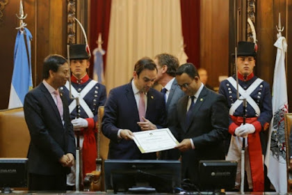 Gubernur Anies Dapat Gelar Tamu Kehormatan dari Parlemen Buenos Aires