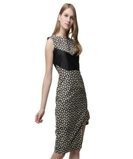gaun pendek batik kombinasi brokat
