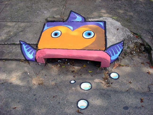 Storm Drain Art- Fish