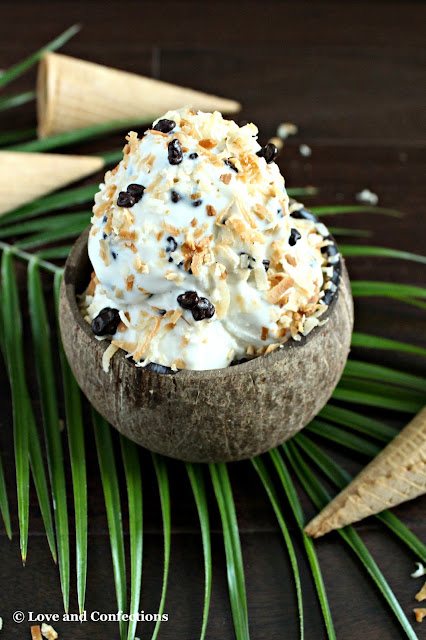 Toasted Coconut Crunch Ice Cream from LoveandConfections.com #makeitwithMILK #FWCon