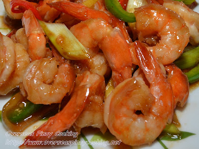Stirfry Prawns with Oyster Sauce