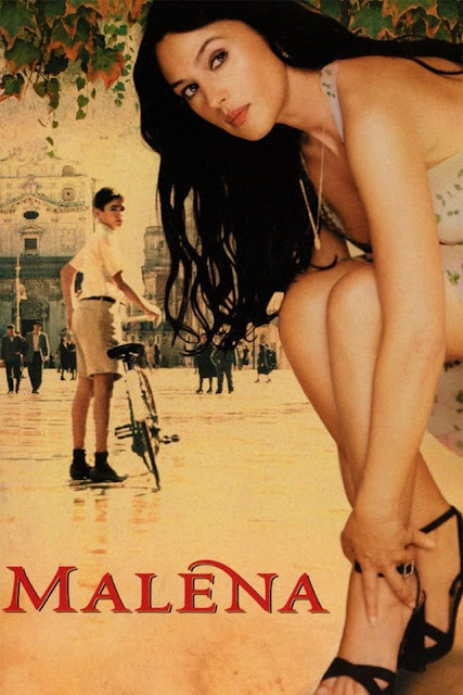 Male Gaze, Voyeurism and politics in Malena (2000)  Malena (2000) is an Italian romantic comedy drama film written and directed by Giuseppe Tornatore from a story by Luciano Vincenzoni. The film is starred by Monica Bellucci and Giuseppe Salfaro in the lead roles. The film is a strong example of the feminist Laura Mulvey and the psychoanalyst Sigmund Freud's concept 'Male Gaze' and 'Voyeurism'. Besides, there are other important subjects for example; domination of patriarchal capitalist society, changing of occupation of the German and the American, Nostalgic evocation etc.     Gaetano Aronica and Monica Bellucci in Malena (2000) Movie   Main theme of the plot:  During the Second World War in 1940, 12 years old Renato experiences three main things; Second World War, getting a bicycle and first time notices a young beautiful woman called Malena in a little town of Sicily. Still then, no war was in that town. Malena's husband was in force in Africa and fought the British. So, Malena is alone in the house. But she becomes the cause of lust of all the men and the women envy her as she is very beautiful, especially her eyes are very erotic. She looks a bit her father, a professor. She gets news that her husband is killed in the war. The citizens become more amorous. Her father gets an anonymous letter about his daughter's eroticism. A soldier comes into her house at night for giving necessary needs. But she did not know that this event would take a serious position.  A wrestle is happened between the dentist and the soldier. But the lawyer upholds the case of her in the court and takes her side in the court. She admits that there was no erotic or other relation with them. But the lawyer wins the case, so he rapes her. Renato watches all deeds at her house and becomes sadomasochist. But he identifies that he is different from the other he wants to become the protector of her. But all only want physical relation. She becomes isolated from her father. In the bombing, her fa