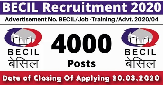 BECIL Recruitment 2020-21 Apply online for 4000 Post