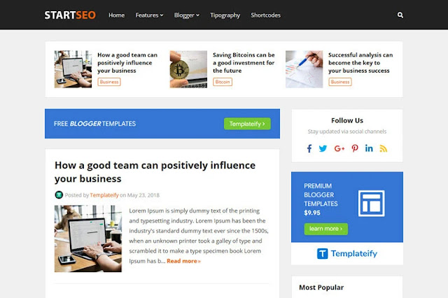 StartSeo Premium and Free template download