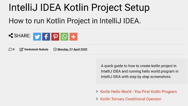 IntelliJ IDEA Kotlin Project Setup