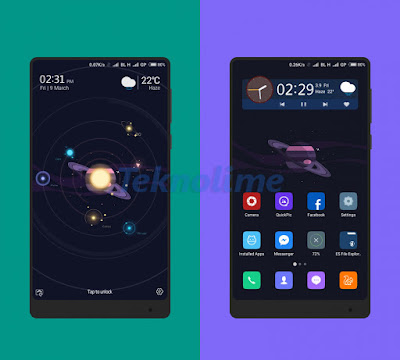 Xiaomi Theme Space And Dark For Miui 9 Update (30/03/2018)