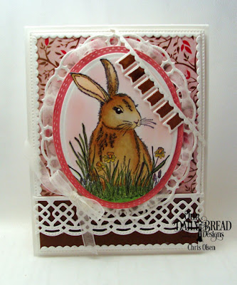 Our Daily Bread Designs, Hoppy Birthday, Beautiful Blooms Paper Pad, ODBD Custom Dies: Pierced Rectangles, Pierced Ovals, Ornate Ovals, Beautiful Borders, Ovals, Bitty Borders, designed by Chris Olsen