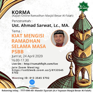 Jadwal Kajian Online Ramadhan Masjid Besar Al-Falah 20200424 - Kajian Islam Tarakan