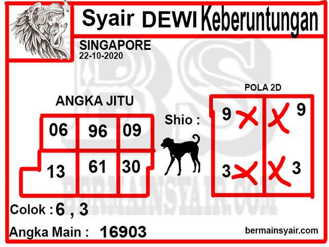 Kode syair Singapore Kamis 22 Oktober 2020 263